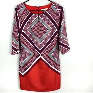 Banana Republic | Geometric Print Office Dress